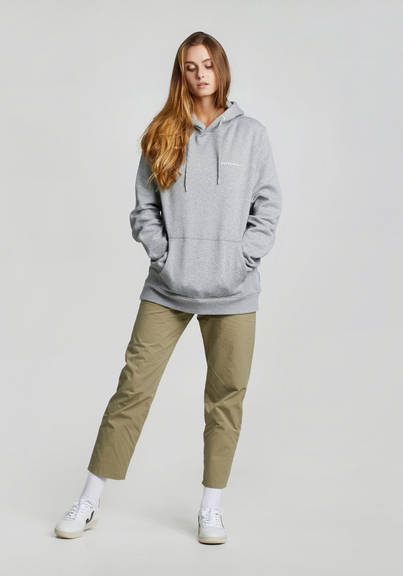 Logo Stick Hoodie heather grey-Hafendieb