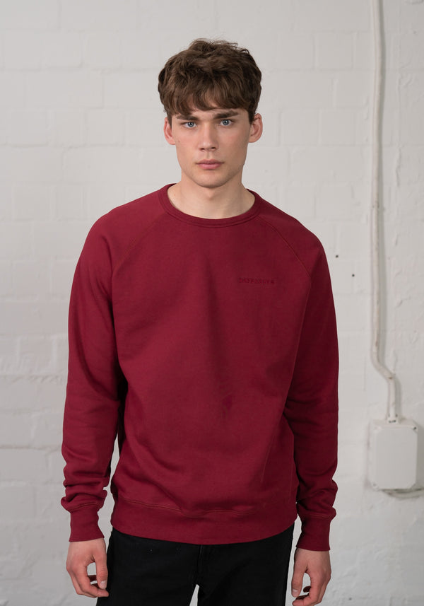 Logo Stick Sweater burgundy