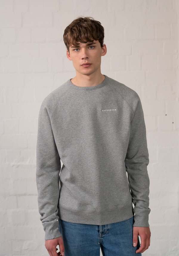 Logo Stick Sweater heather grey-Hafendieb