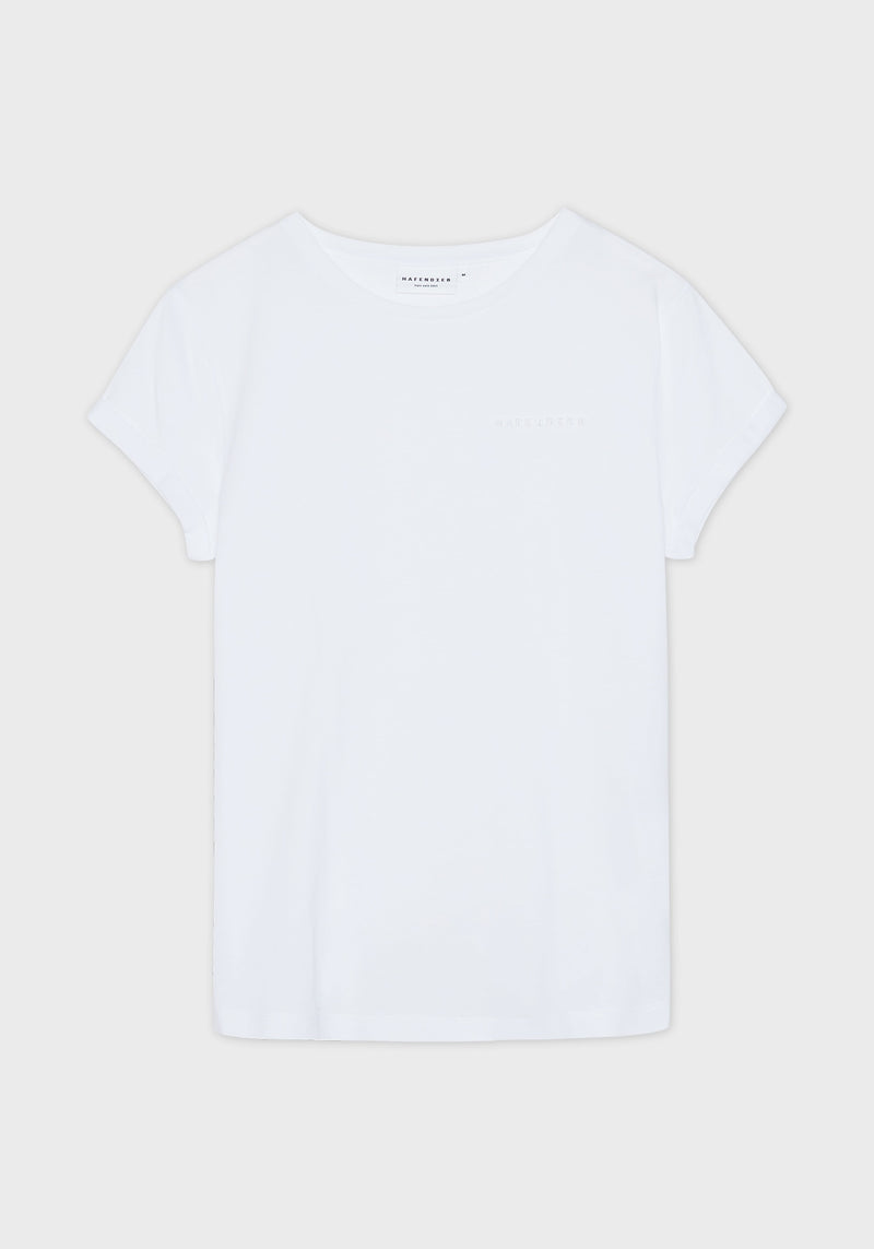 Logo Stick T-Shirt white-Hafendieb
