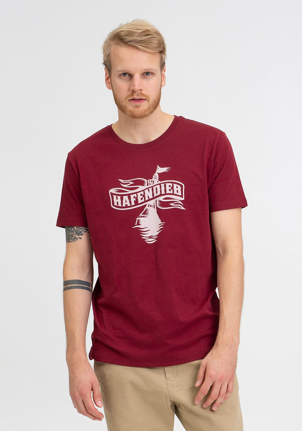 Logo T-Shirt burgundy