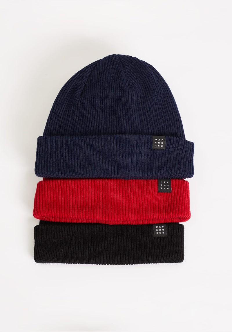 Logo Block Beanie red - Hafendieb