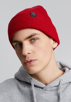 Logo Block Beanie red