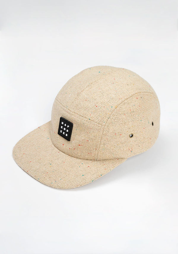 Pattern 5 Panel Cap beige - Hafendieb