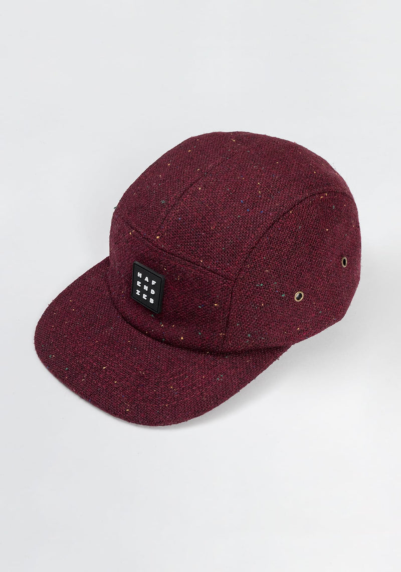 Pattern 5 Panel Cap burgundy - Hafendieb