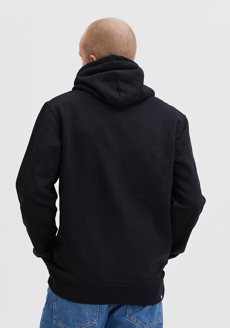 Logo Block Patch Hoodie black