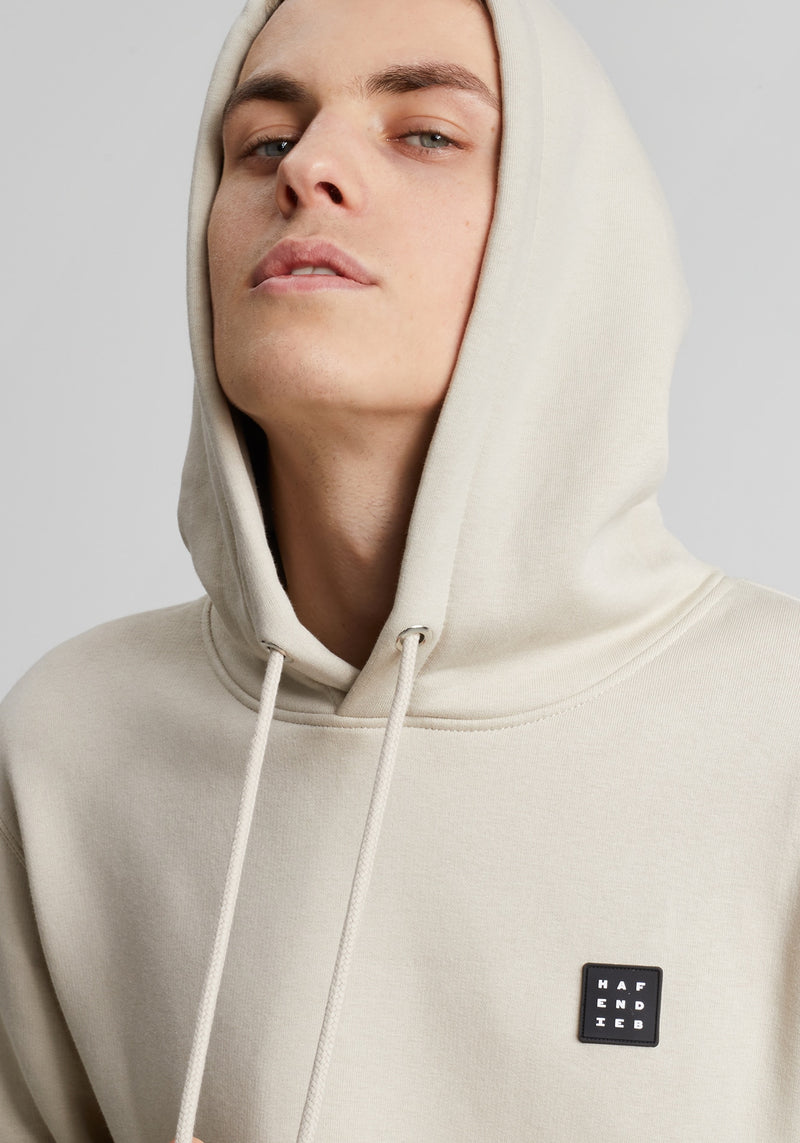 Logo Block Patch Hoodie dust-Hafendieb