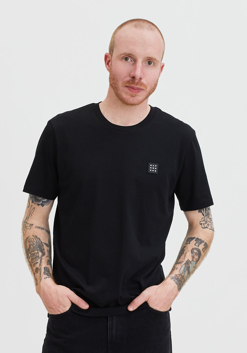 Logo Block Patch T-Shirt black - Hafendieb