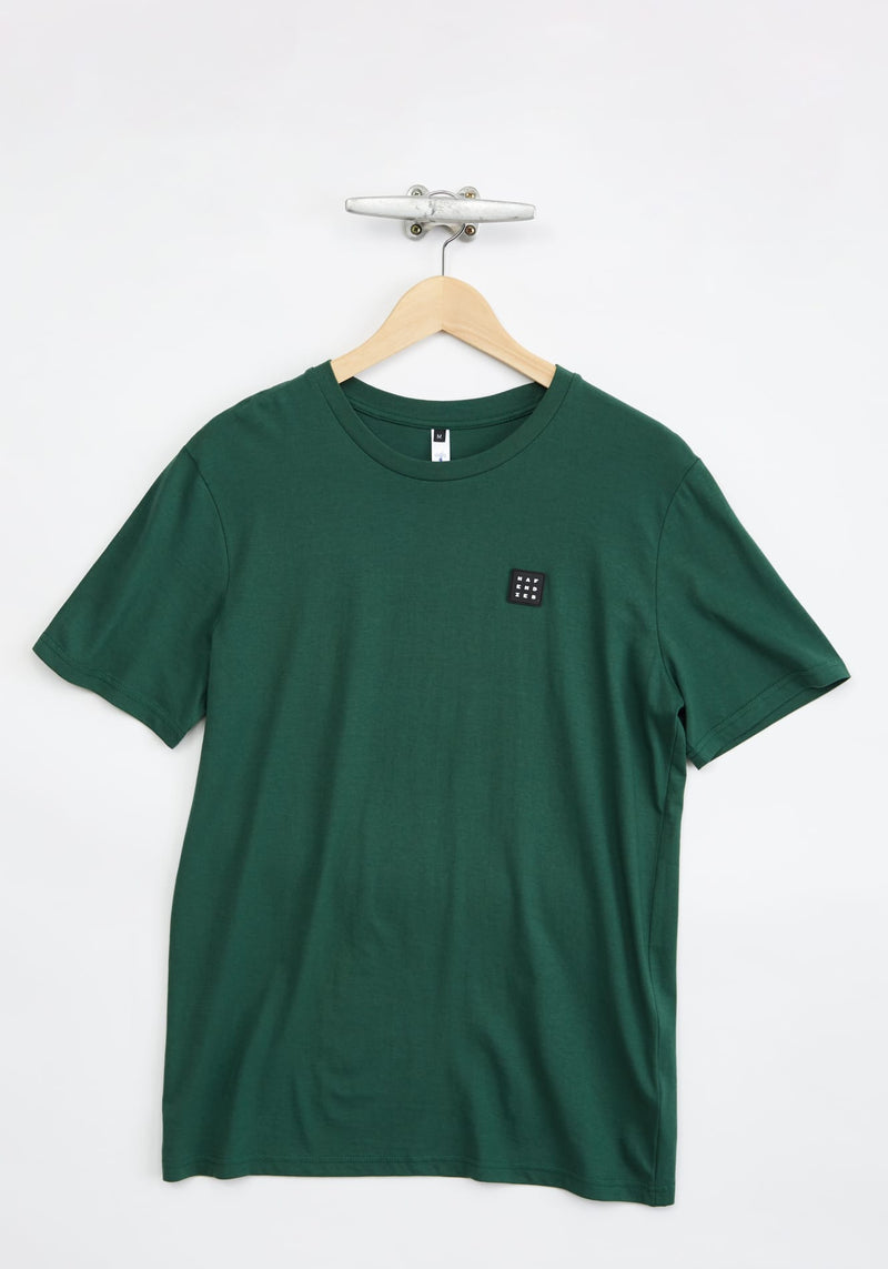 Logo Block Patch T-Shirt green - Hafendieb