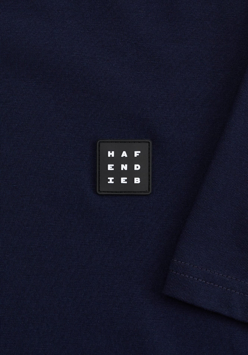 Logo Block Patch T-Shirt navy - Hafendieb