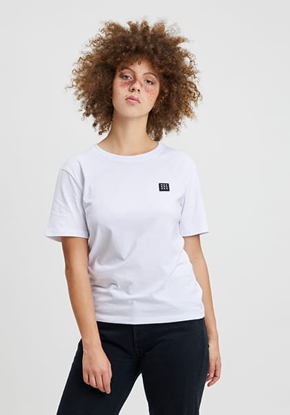 Logo Block Patch T-Shirt white