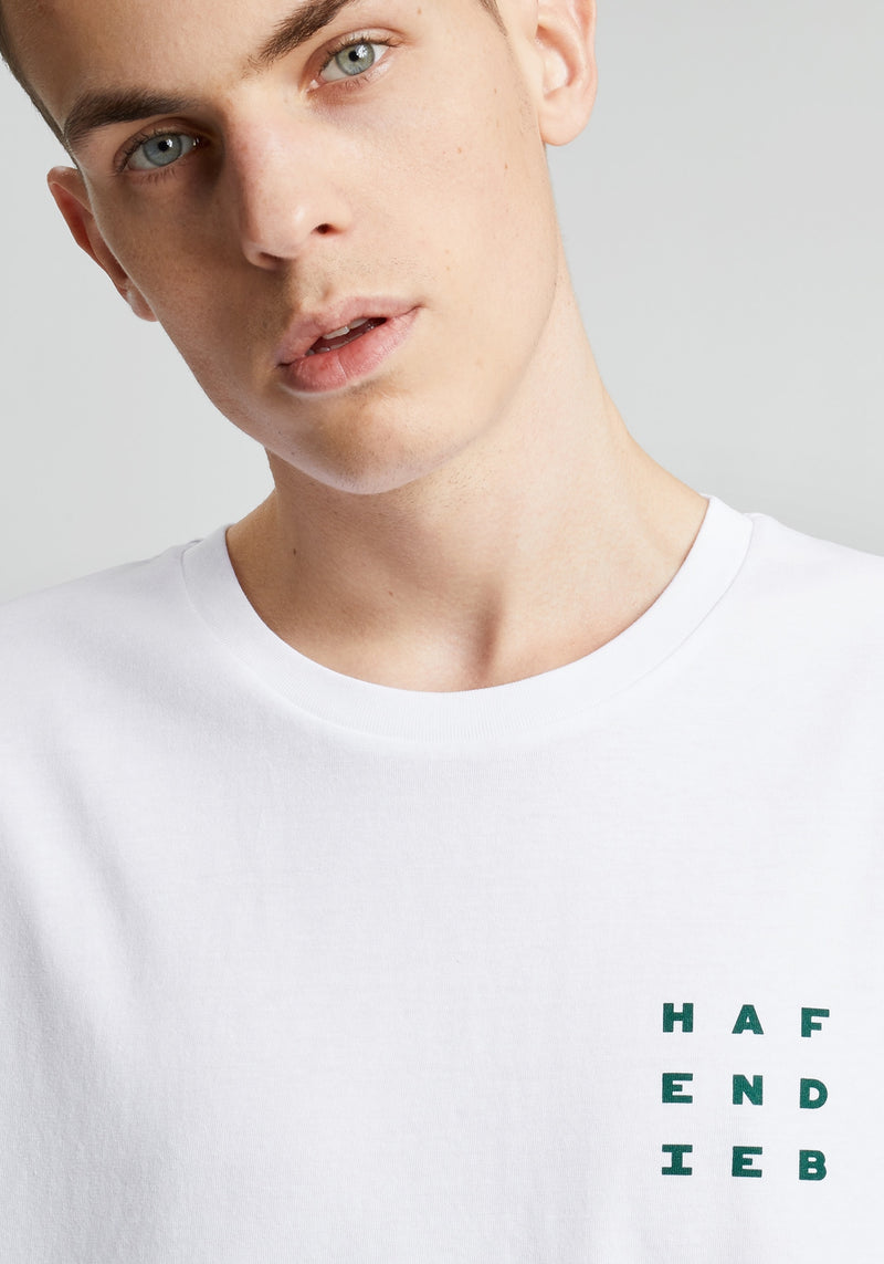 Logo Block T-Shirt white-Hafendieb