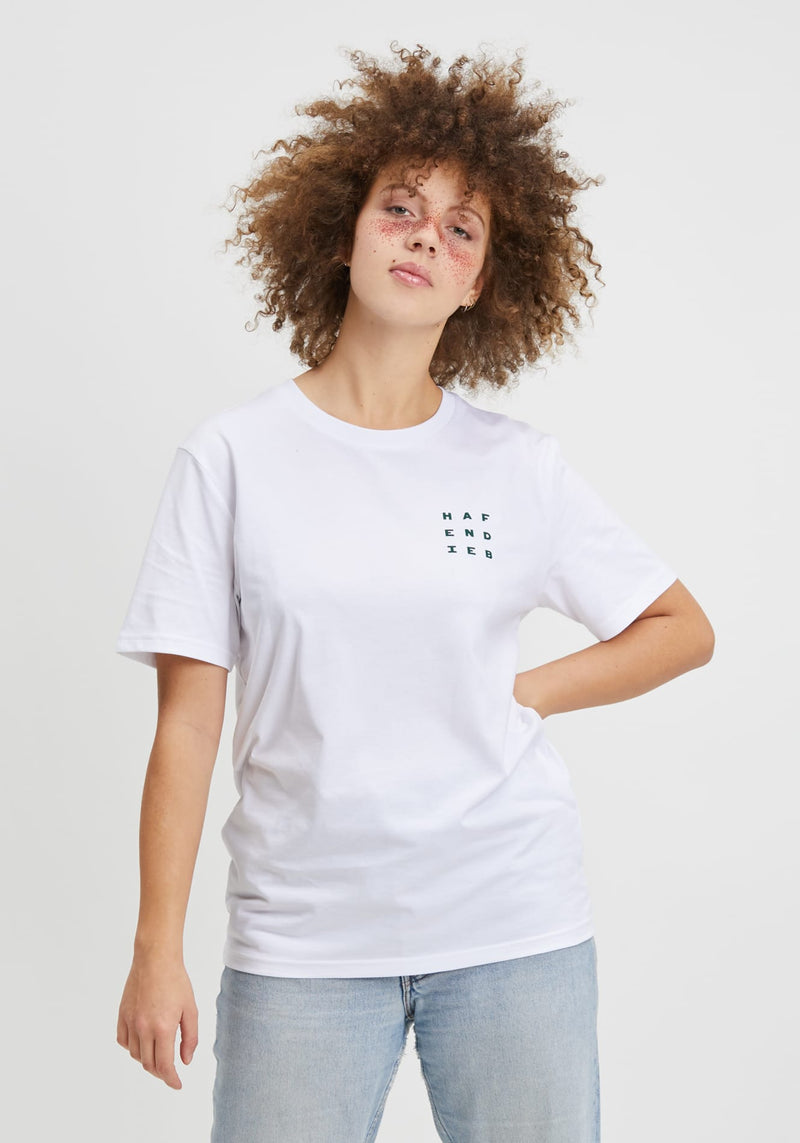 Logo Block T-Shirt white - Hafendieb