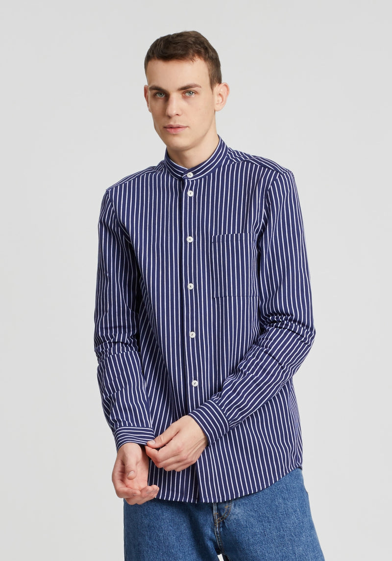 Schanty Hemd navy stripes