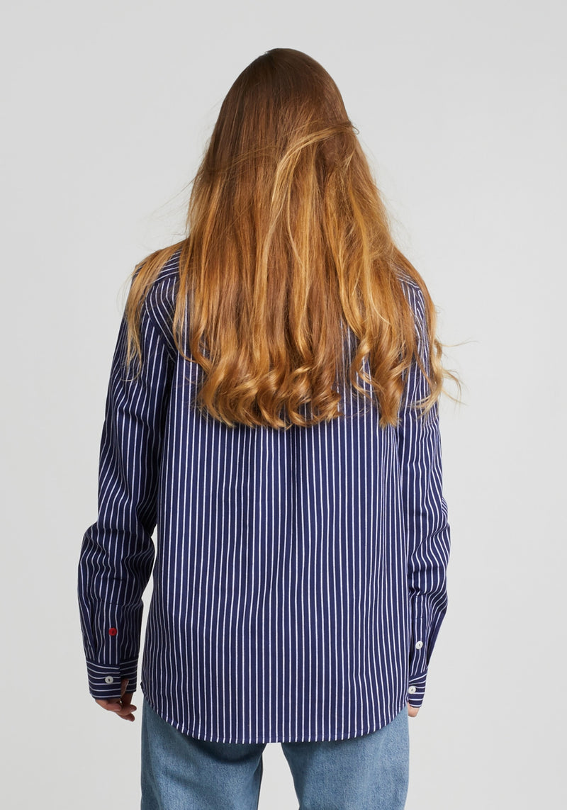 Schanty Hemd navy stripes-Hafendieb