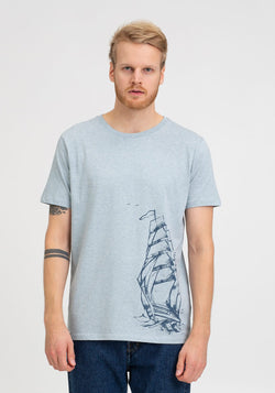 Schiff T-Shirt heather ice blue - Hafendieb