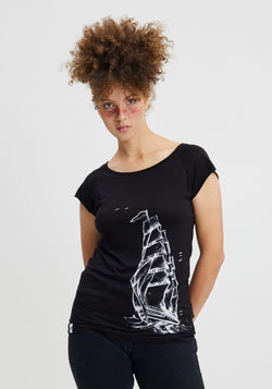 Schiff T-Shirt black - Hafendieb