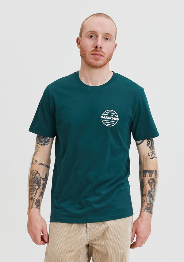 Waterkant Lütt T-Shirt bottle green-Hafendieb