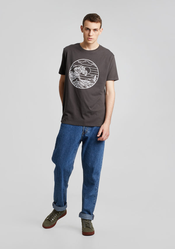 Waterkant T-Shirt charcoal-Hafendieb
