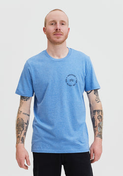 Wave Retro T-Shirt mid heather blue