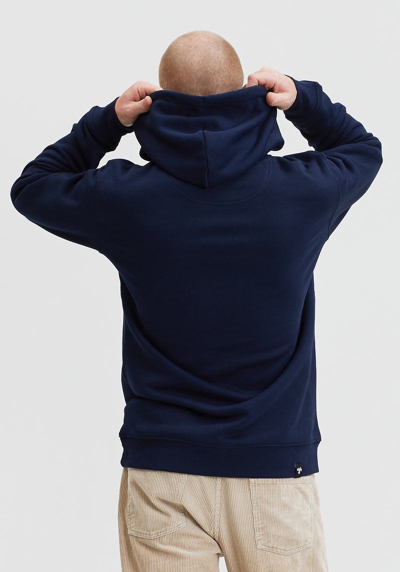 Welle Patch Hoodie navy