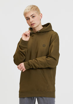 Welle Patch Hoodie khaki