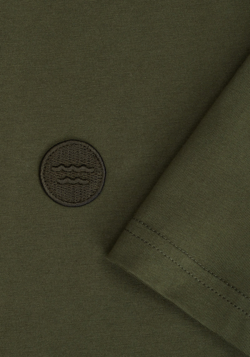 Welle Patch T-Shirt olive