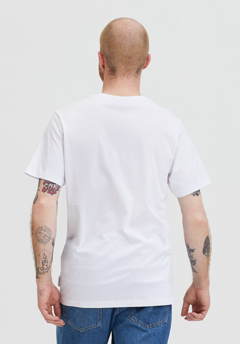 Welle Patch T-Shirt white-Hafendieb