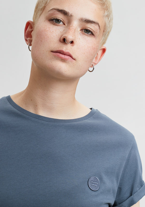 Welle Patch T-Shirt charcoal