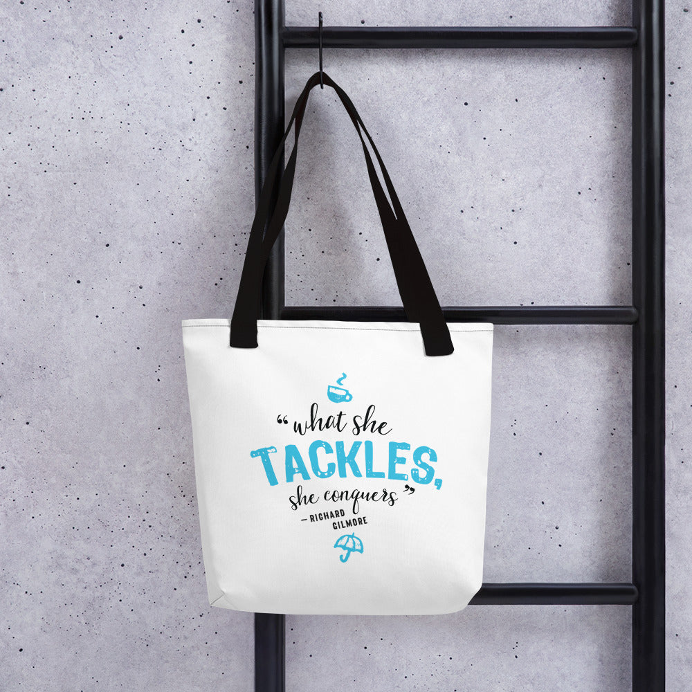 What She Tackles Tote bag - FandomFix.com