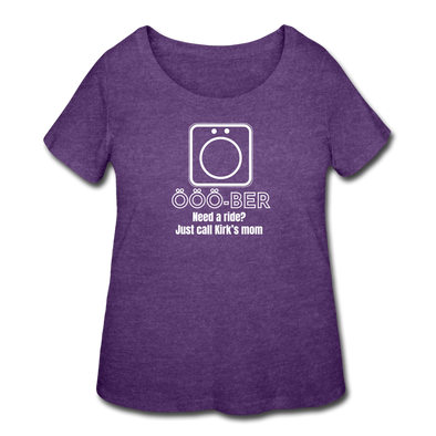 OOO-Ber Plus Size Tee - heather purple