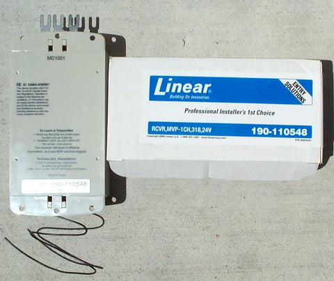 MVP190 318 MHZ 24V RECIEVER LINEAR FOR ALL STAR THREE DOOR CONTROL
