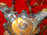 Victorian electroplated silver four-light candelabras (two)