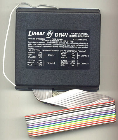 LINEAR DR4-12, (4) FOUR CHANNEL DIGITAL RECIEVER