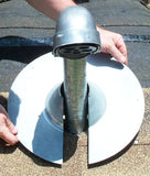 Retro-Spin Galvanized Metal Roof Flashing