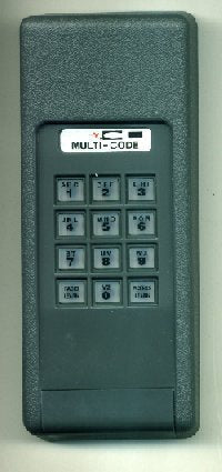 """STANLEY"" MULTI-CODE BY LINEAR 310 MHZ SINGLE WIRELESS KEYPAD"