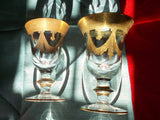 "Neiman Marcus ""Arte Italica"" Vetro Gold Wine Glasses and decanters (16 + 8 + 2 )"