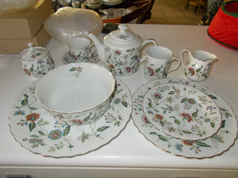 "Sadek China ""Buckingham"" series bone china sets (51 piece)"