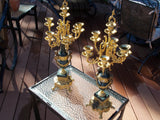 Italian Brevettato Bronze & Marble Candelabras (set of two units)