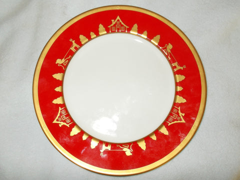 "Salad Plate Joyieux Noel by Christian Dior (Twelve 8 1/4"" plates)"