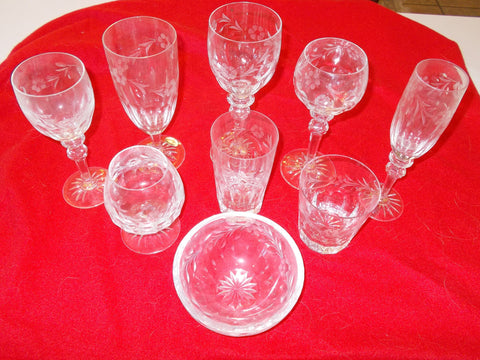 "Rogaska  ""Country Garden"" Leaded Crystal - Hand Made in Yugoslavia (120 pieces)"