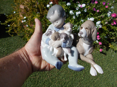 "Lladro of Spain ""New Playmates"" Porcelian Figurine"