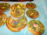 Rochard China of Limoges France Dinner and dessert plate selection. (24 pieces)