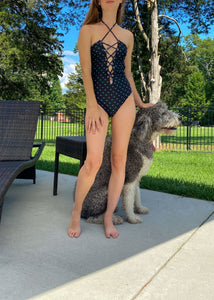 Lia One Piece in Black Palm