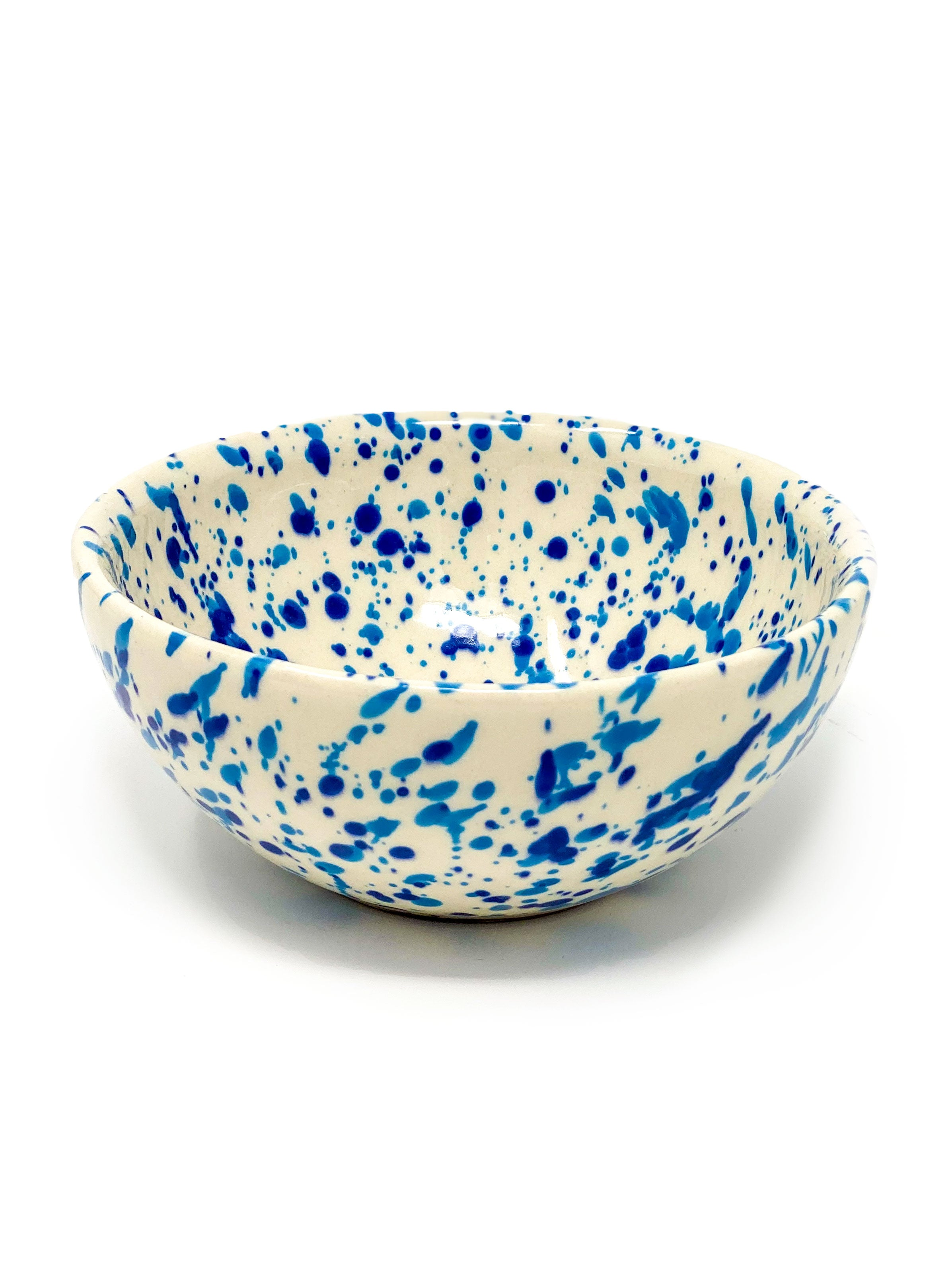 Sconset Mixed Blue Spongeware Bowl
