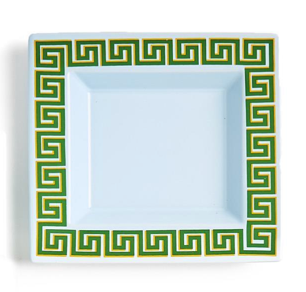 Greek Key Desk Tray in Blue