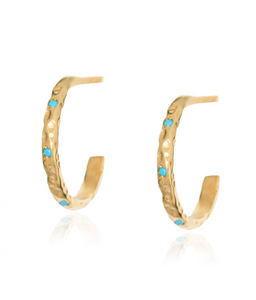 Stardust Thin Mini Hoops