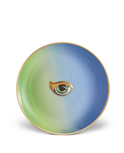 Lito-Eye Canape Plate in Green+Blue