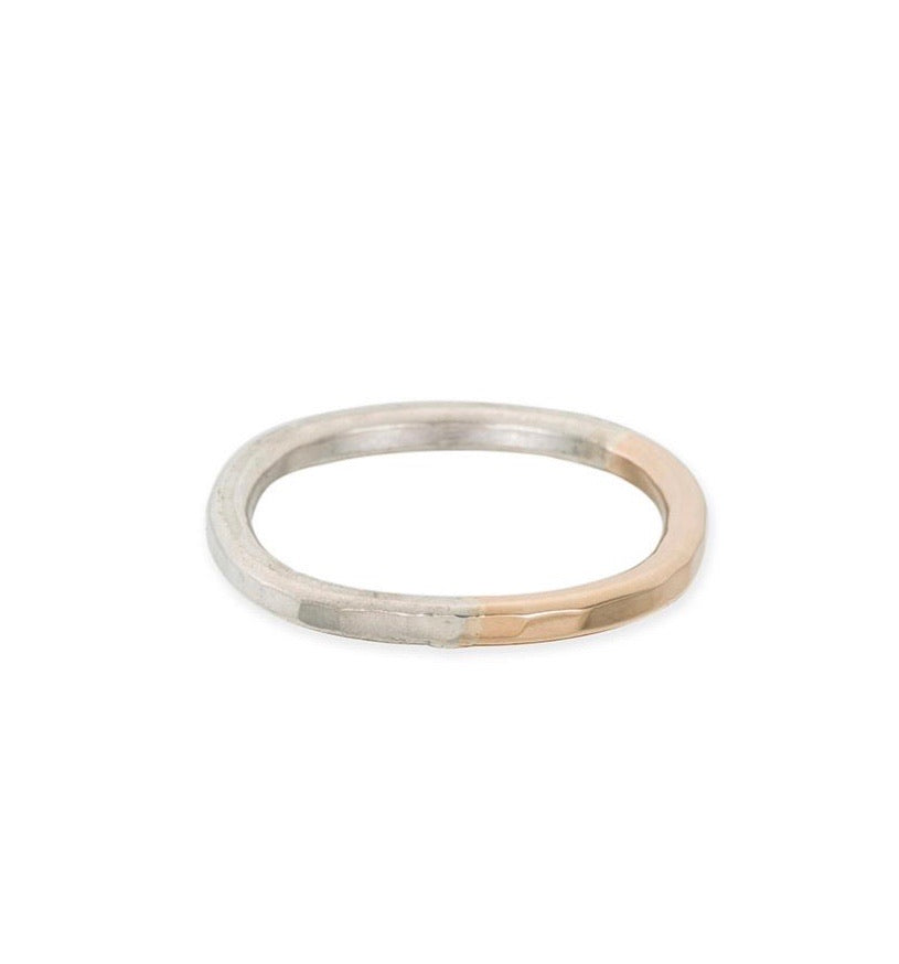 Thick Individual Round Gradient Ring