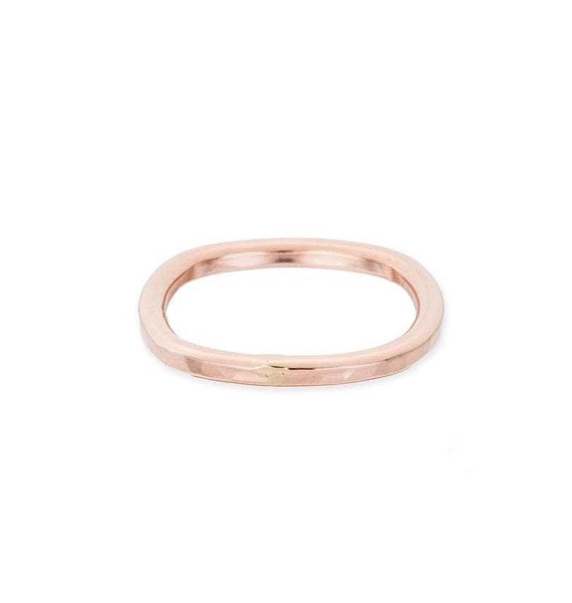 Thick Individual Round Rose Gold Ring
